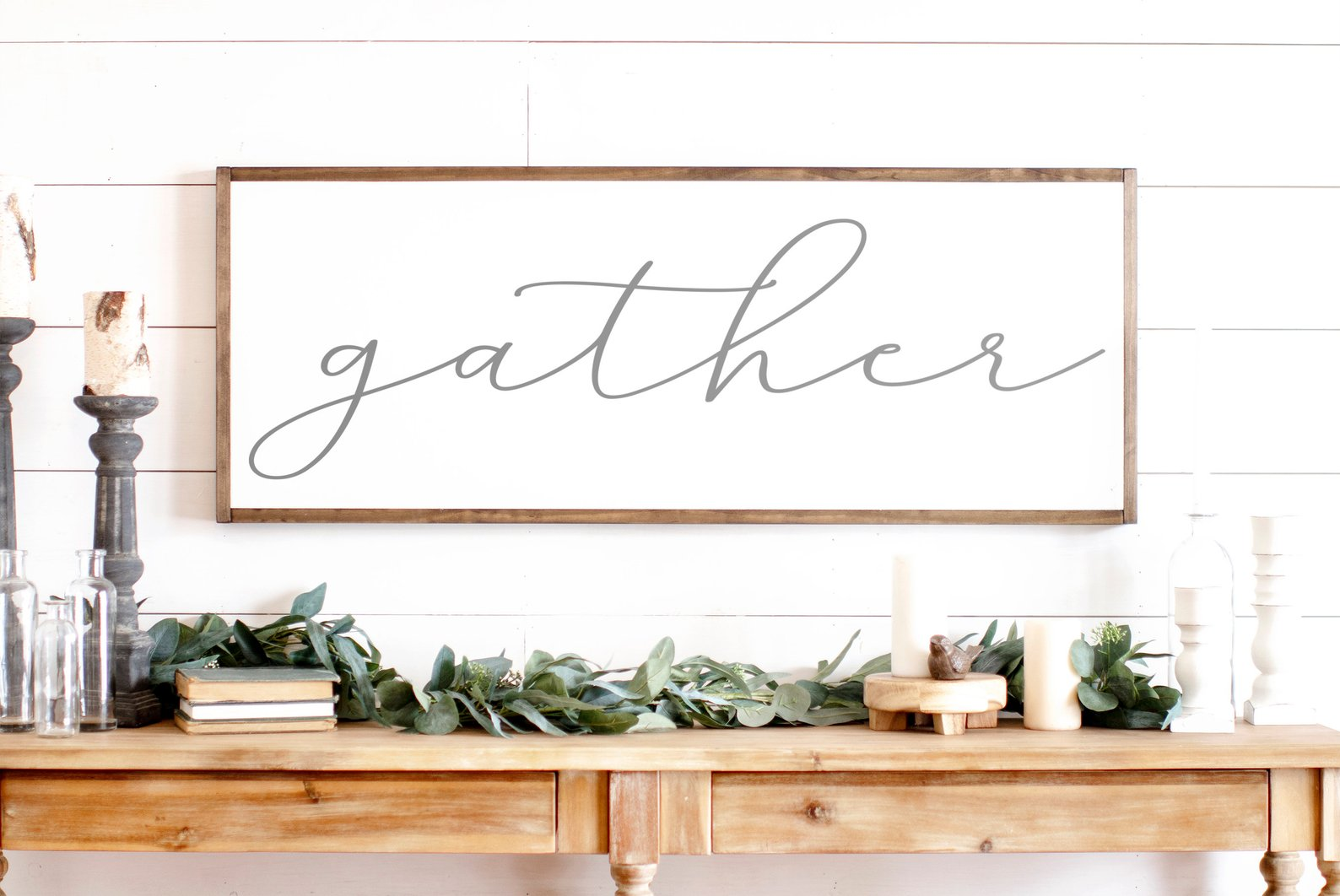 Gather Wood Sign By Rooted N Grounded Home