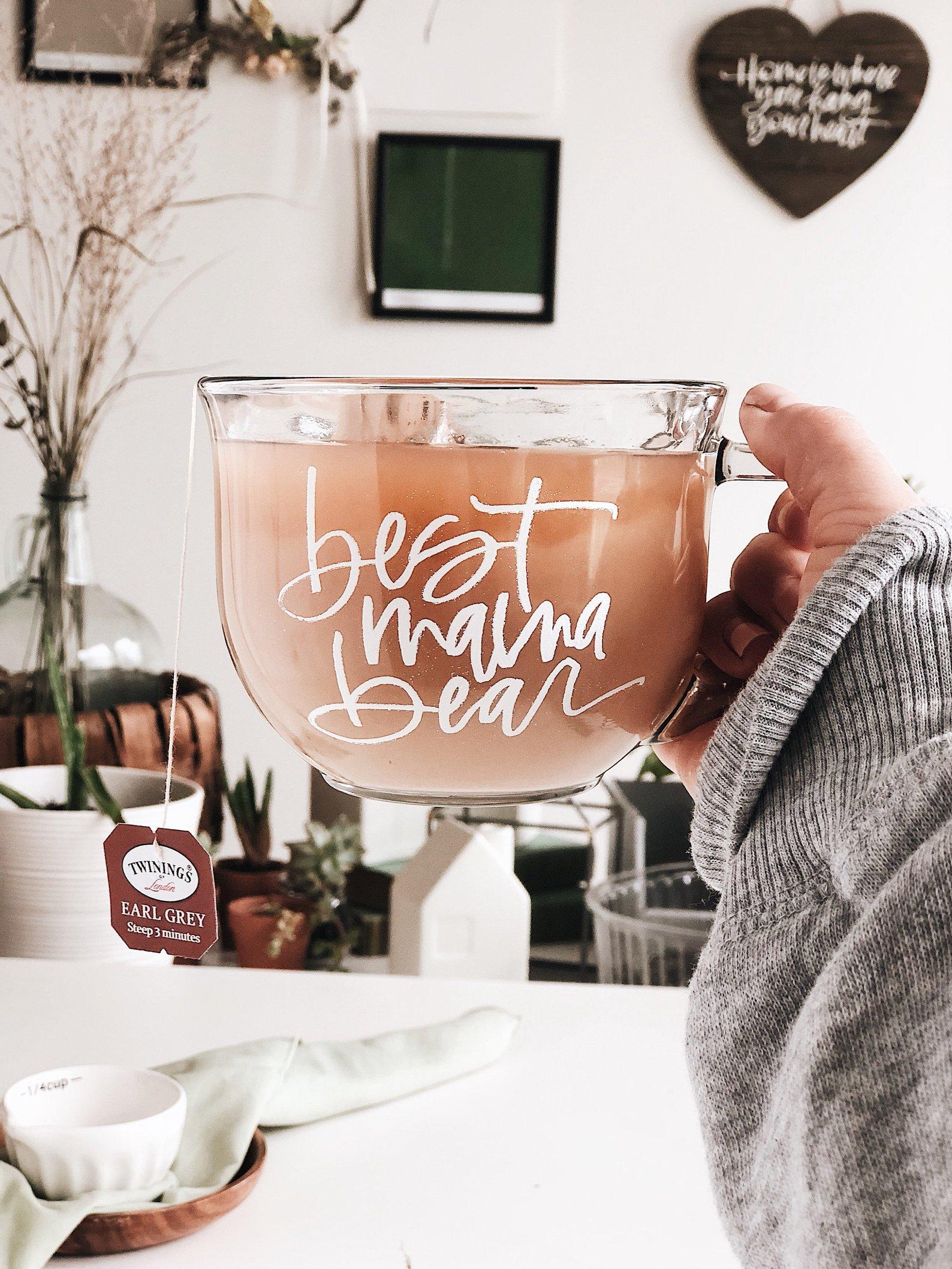 Cozy Glass Mug By Paper Case Studio