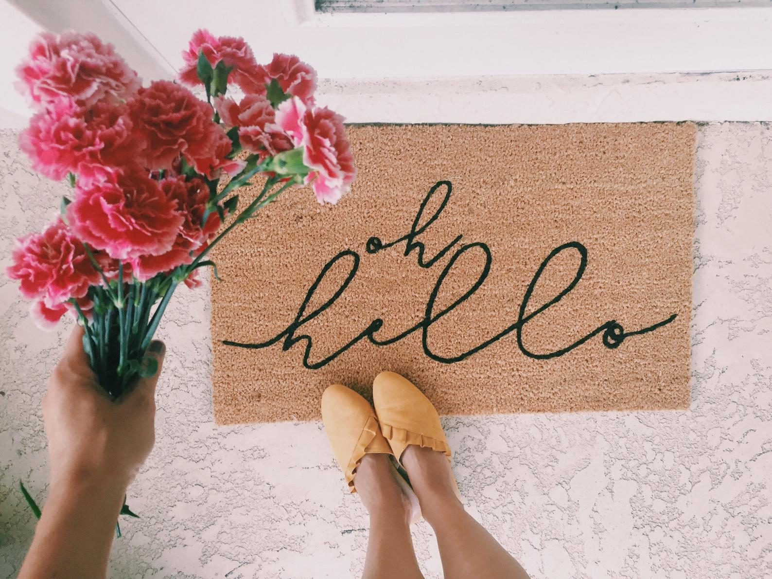 Oh Hello Door Mat By Olivia Rose Shoppe
