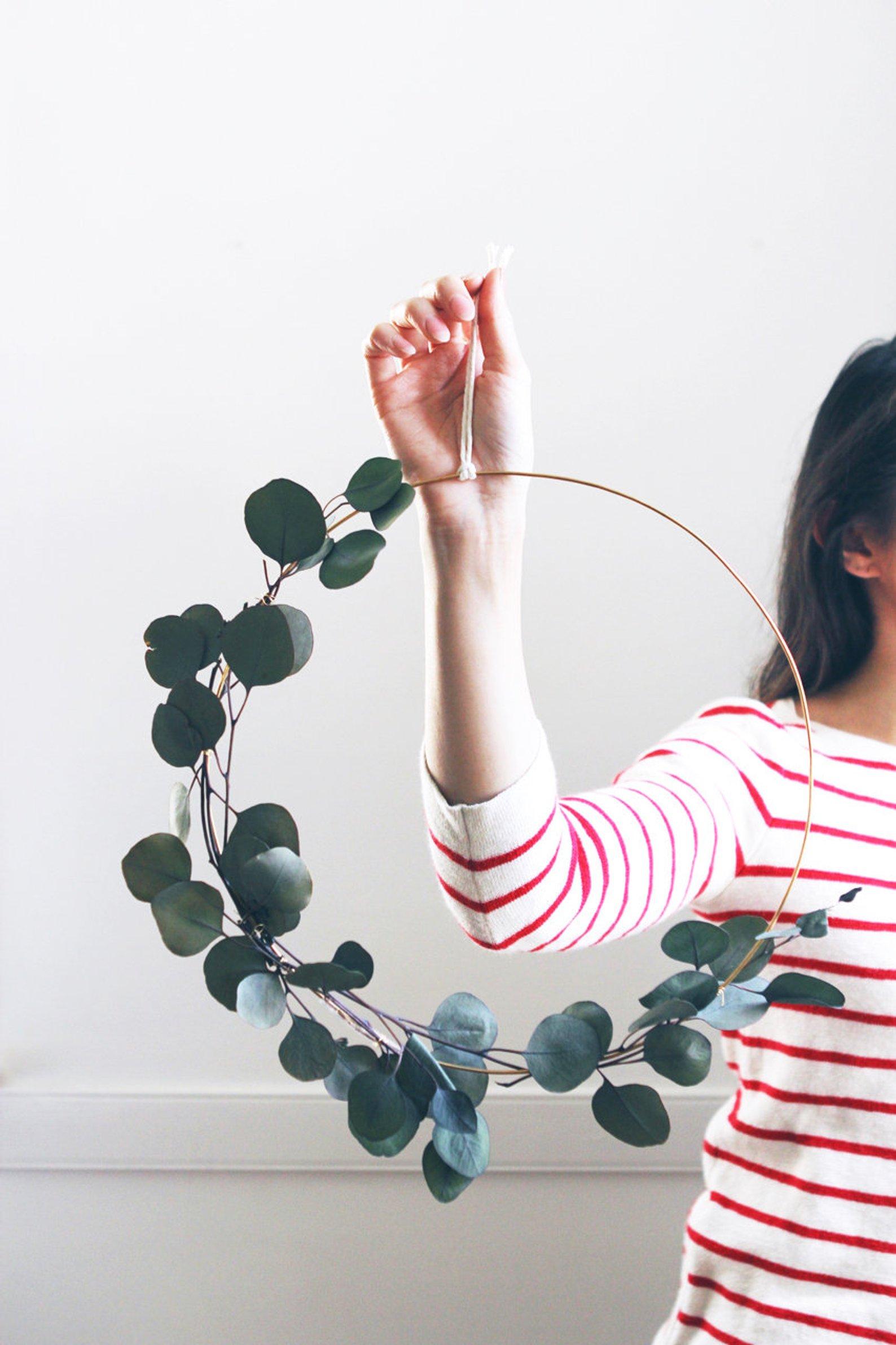 Modern Eucalyptus Wreath By Pauline Stanley Studio