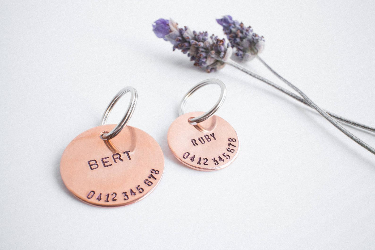 Personalized Hand Stamped Copper Dog Tag By Animals in Charge