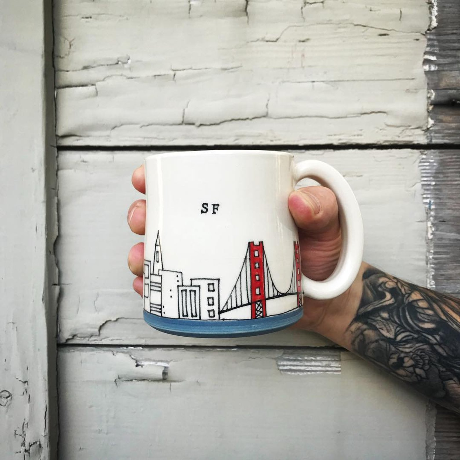 San Francisco Mug By Downing Pottery