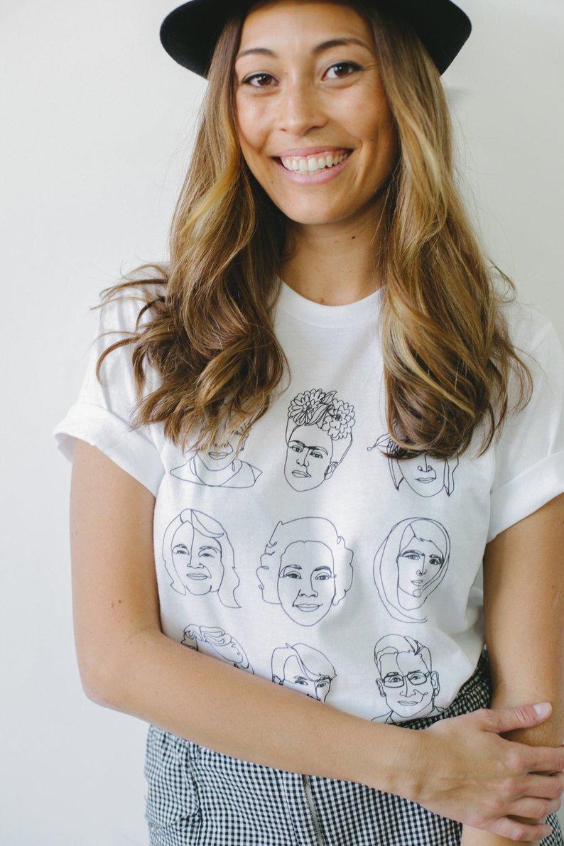 Badass Women Girl Power Feminist Unisex Shirt By Joseph and Sue
