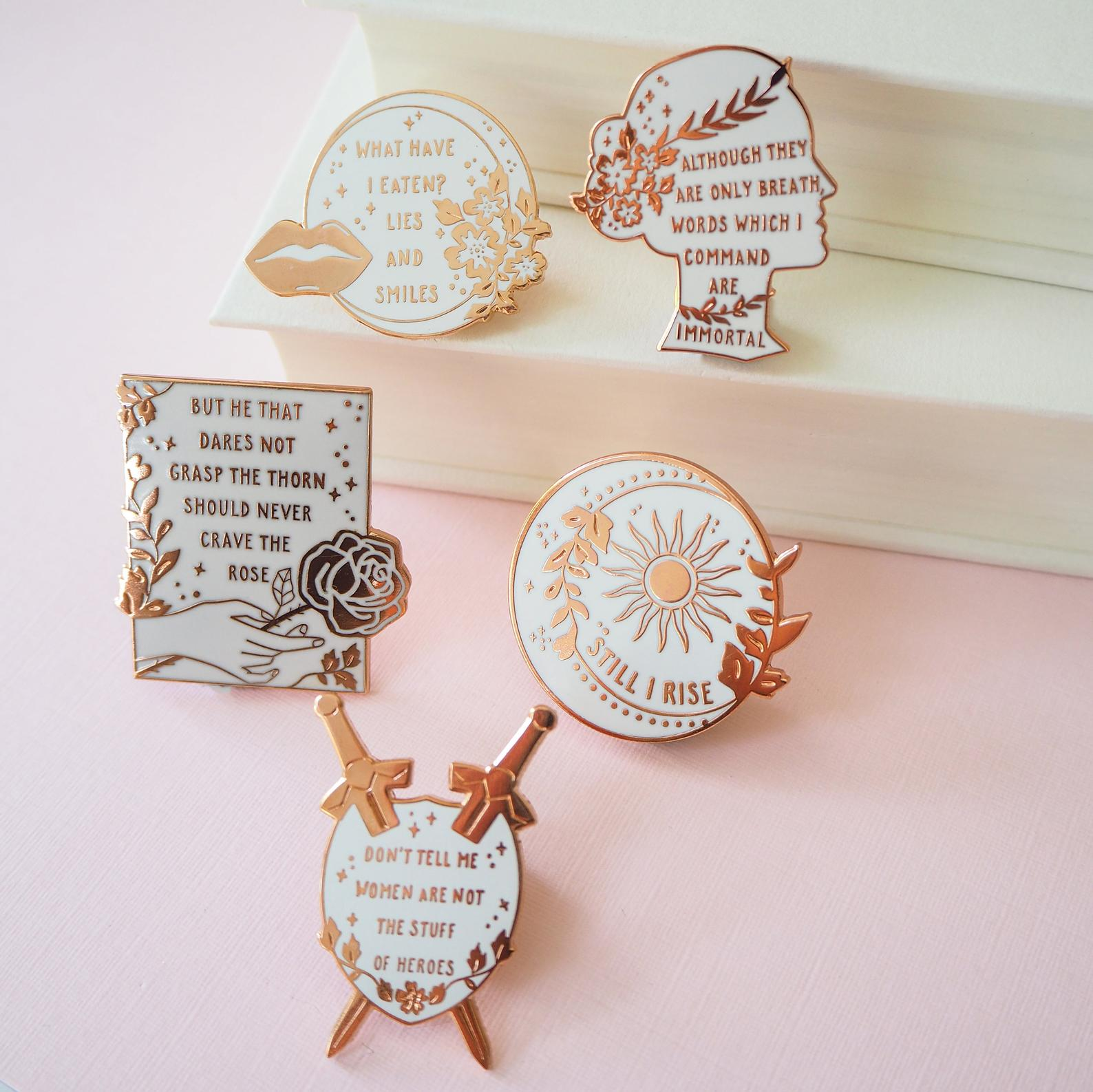 Women Poets Enamel Pin Collection By Literary Emporium