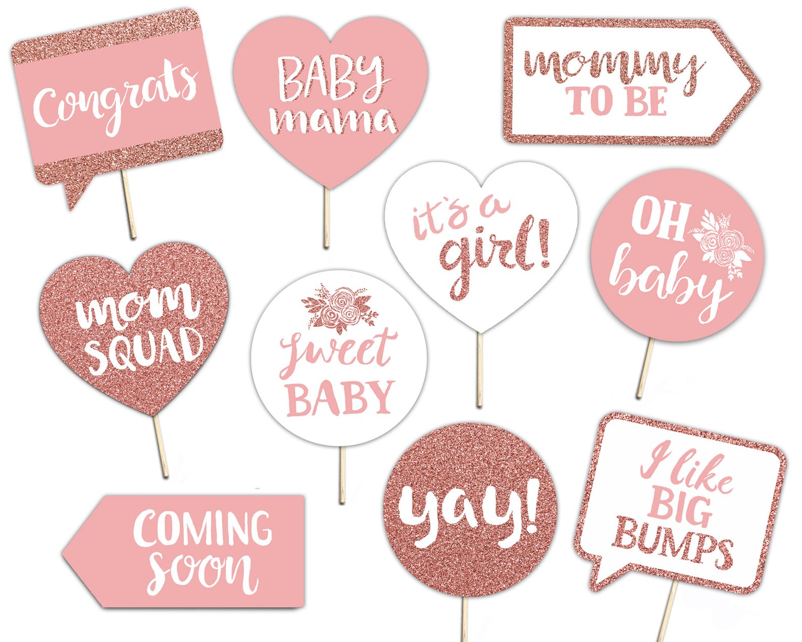 Printable Baby Girl Photo Booth Props By Brighter Prints