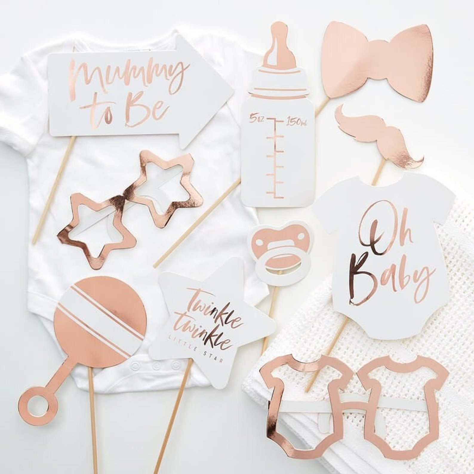 Baby Shower Photo Booth Props By Little Orchard Craft