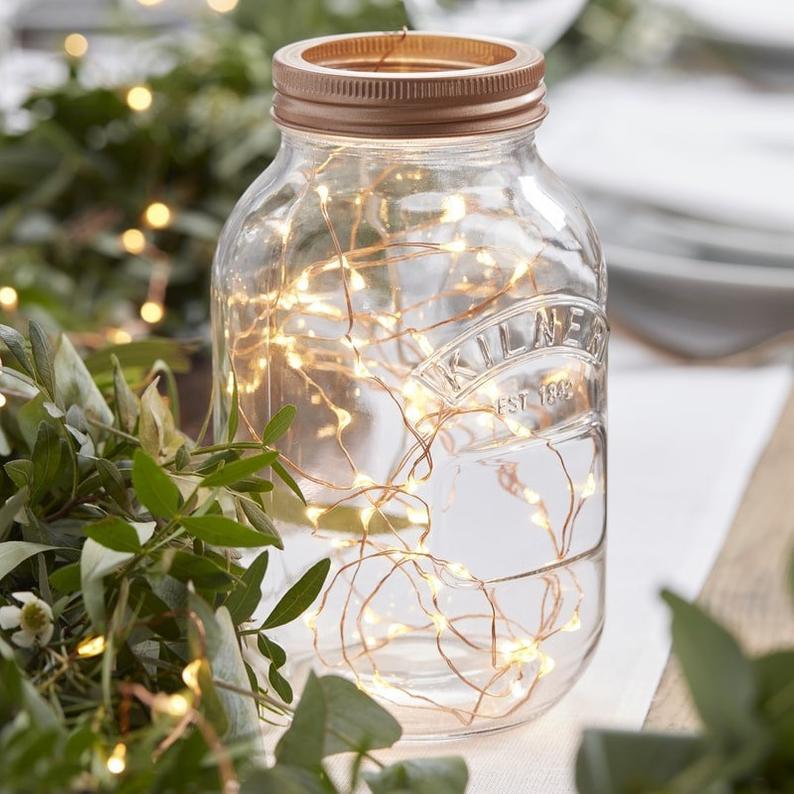 Mason Jar Fairy Lights By En Fete