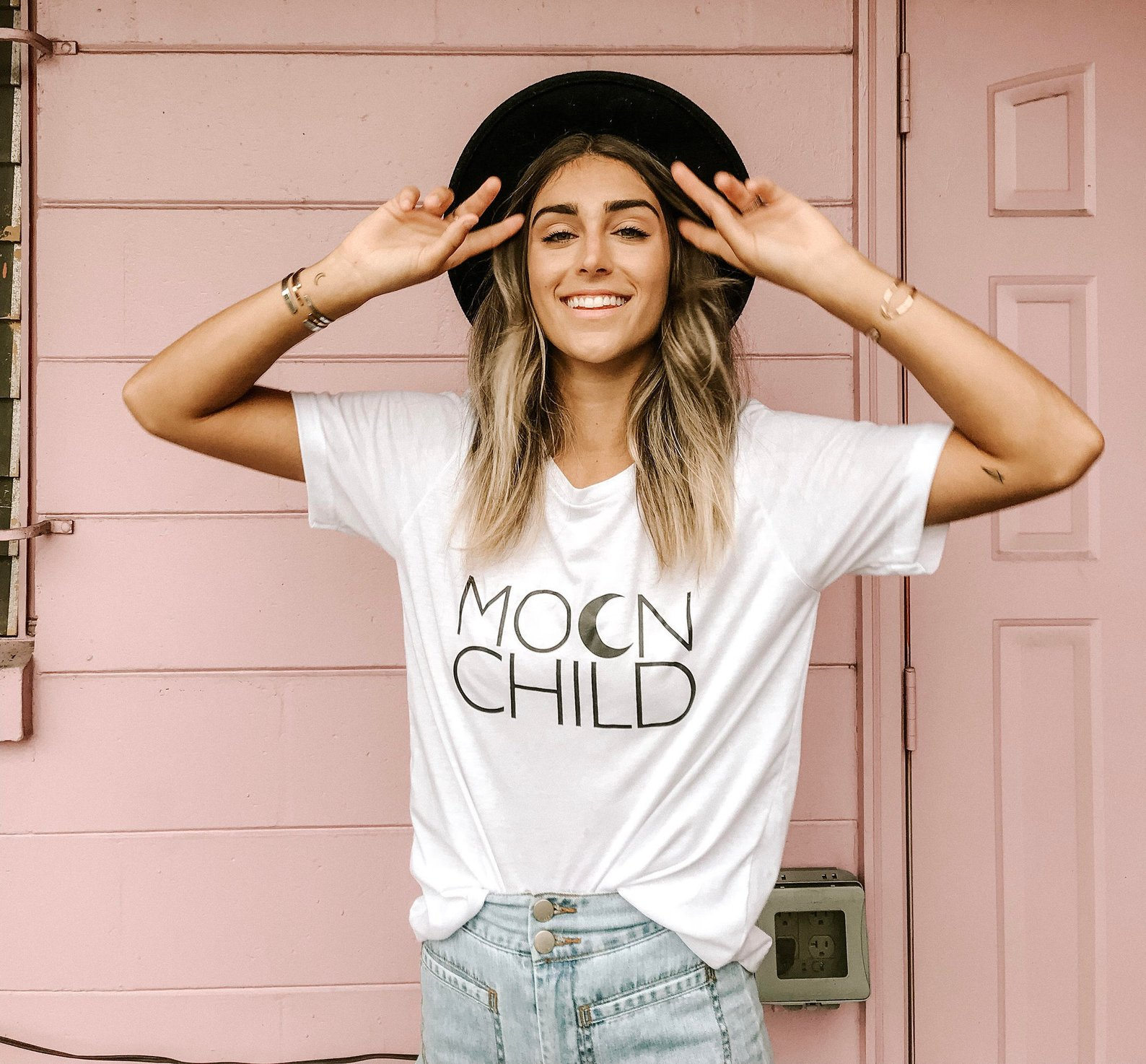 MOON CHILD Basic Boyfriend Tee By Mama Bird and Co