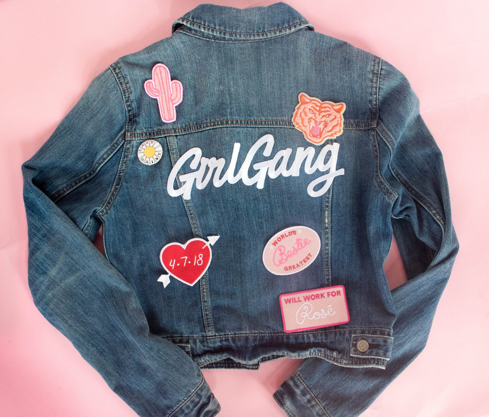 Girl Gang Patches for Denim Jacket By The Daily Disco