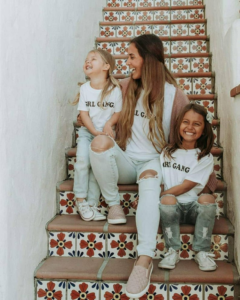 Adult Girl Gang Tshirts By Mama Bird and Co