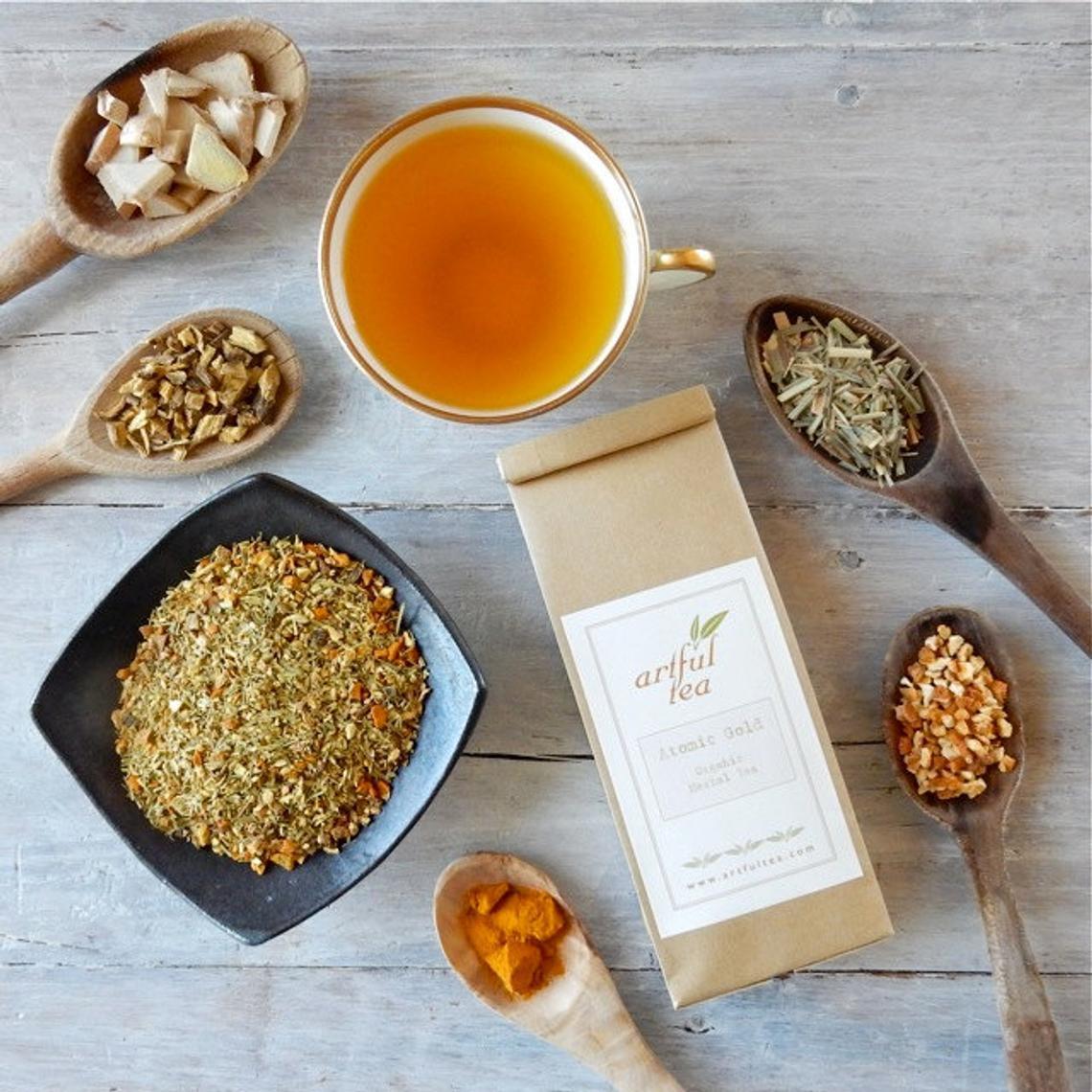 Atomic Gold Organic Herbal Tea By ArtfulTea