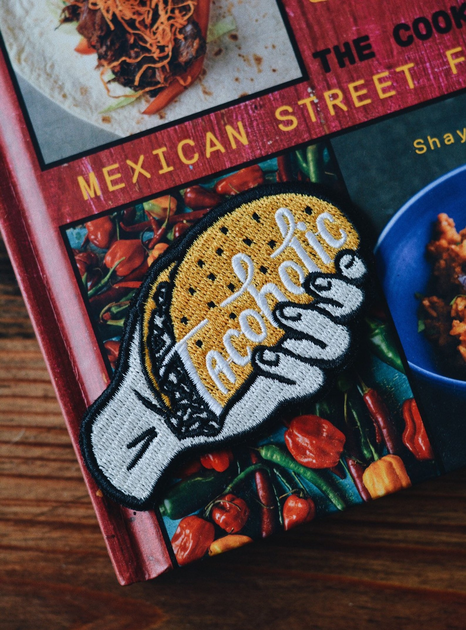 Tacoholic Iron on Embroidered Taco Patch By PyknicOfficial