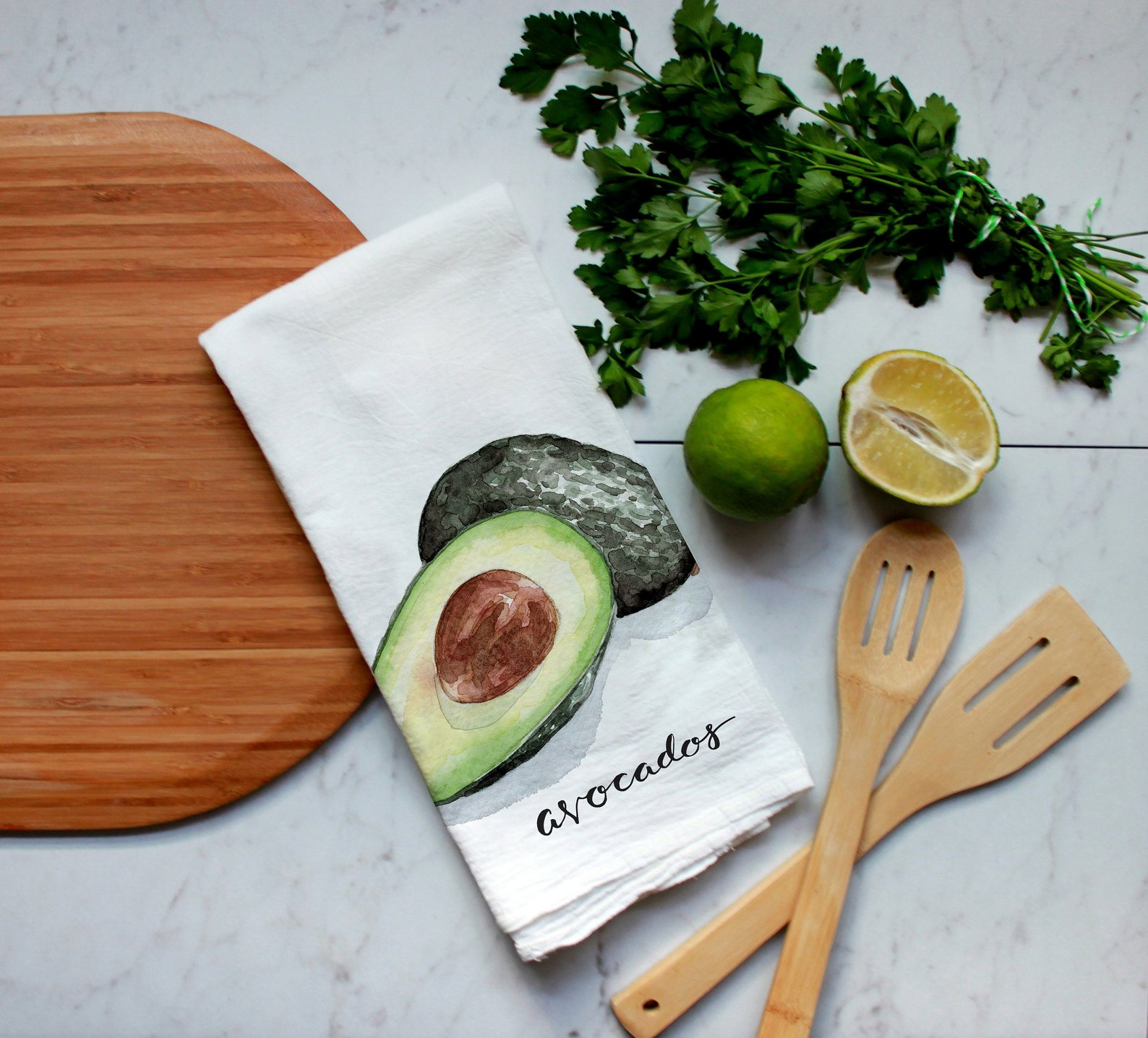 Avocado Flour Sack Tea Towel By Sweet Clementine Print