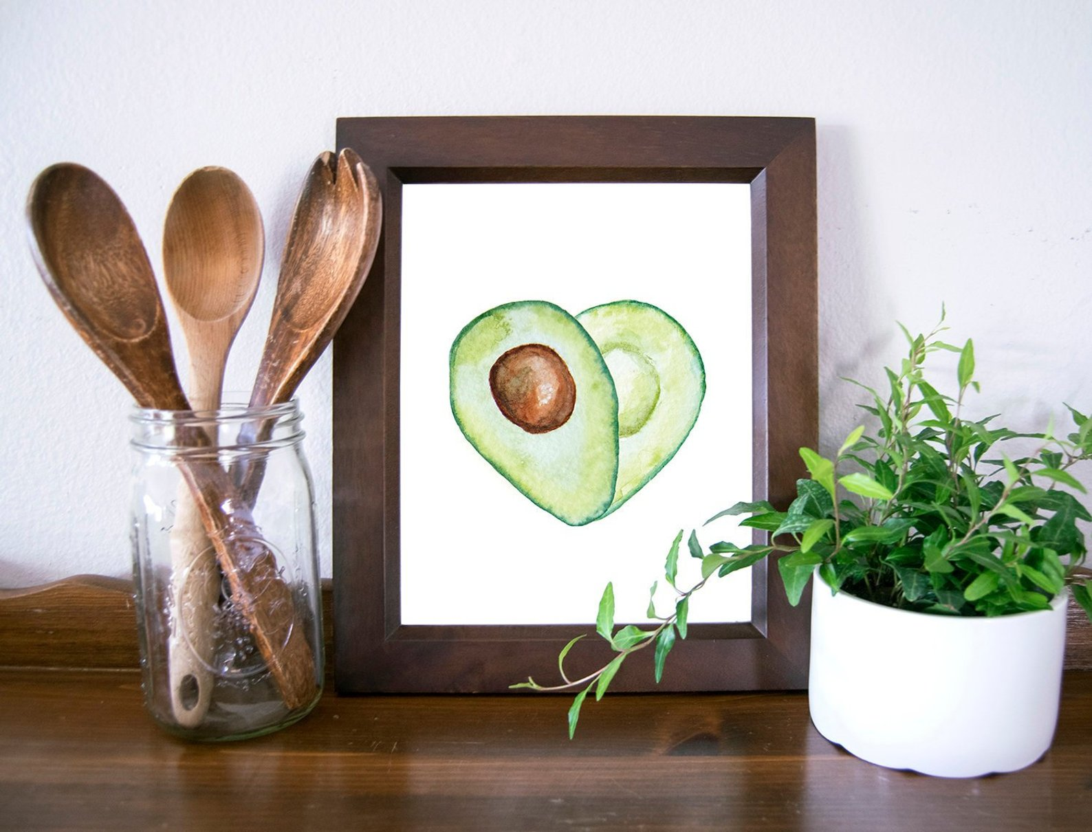 Avocado Love Printable Kitchen Wall Art By Moon And The Mountains