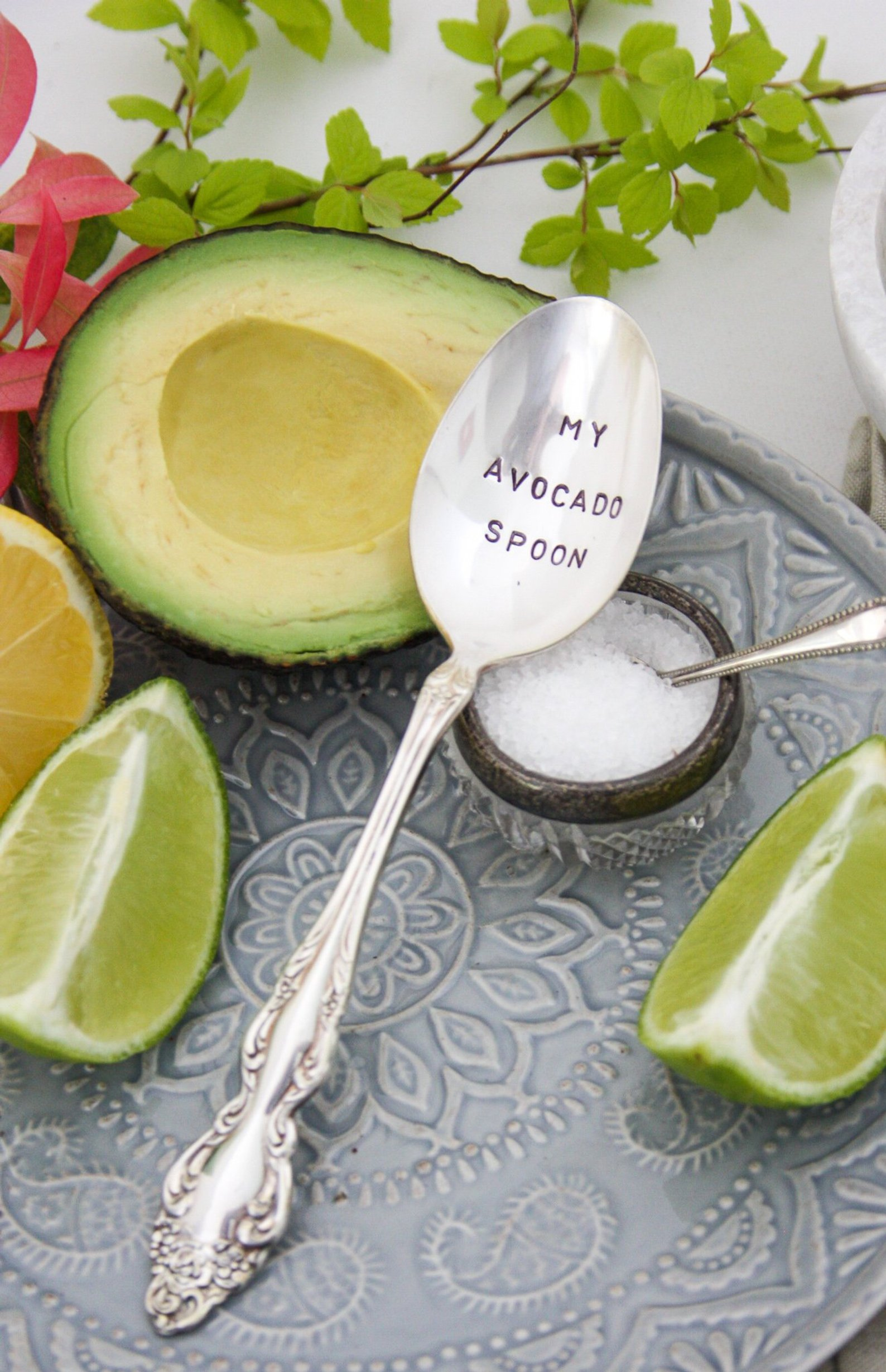 My Avocado Spoon Stamped Spoon By Andthenagaindesigns