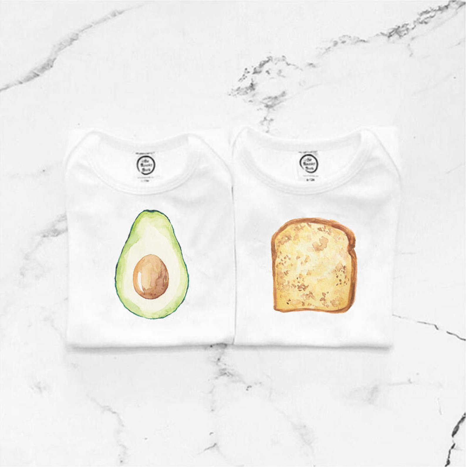 Avocado Toast Organic Cotton Baby Bodysuit By Spunky Stork