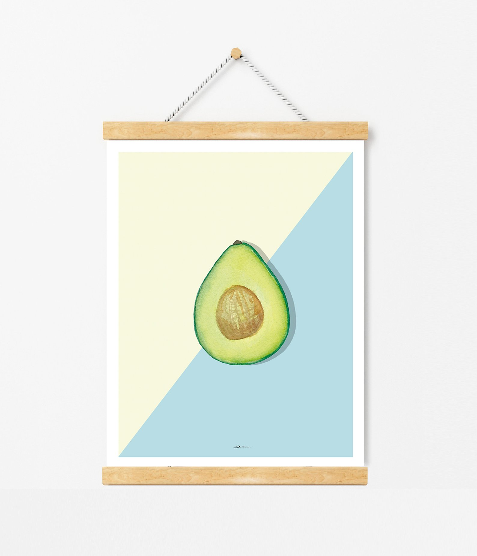 Kitchen Avocado Wall Decor By Detusa
