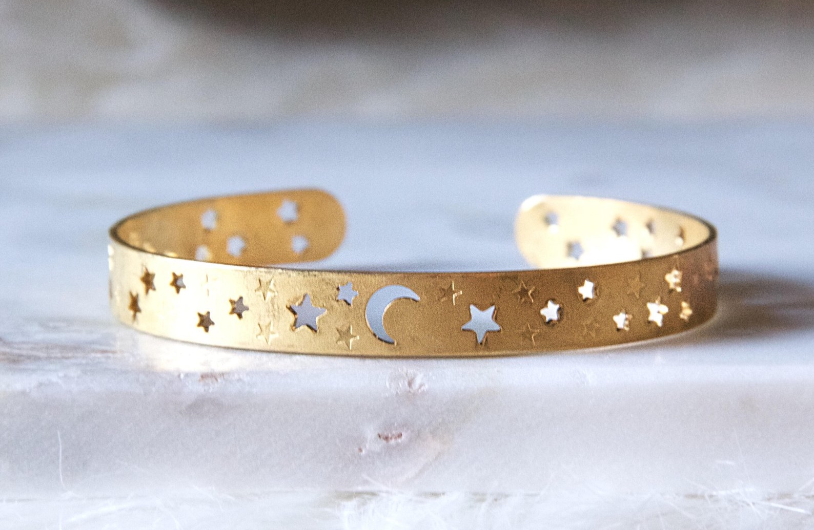 Moon and Stars Crescent Bracelet By Mesa Blue