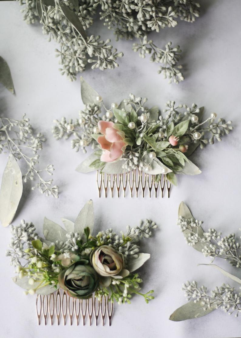Eucalyptus Hair Comb By Wild Rose And Sparrow