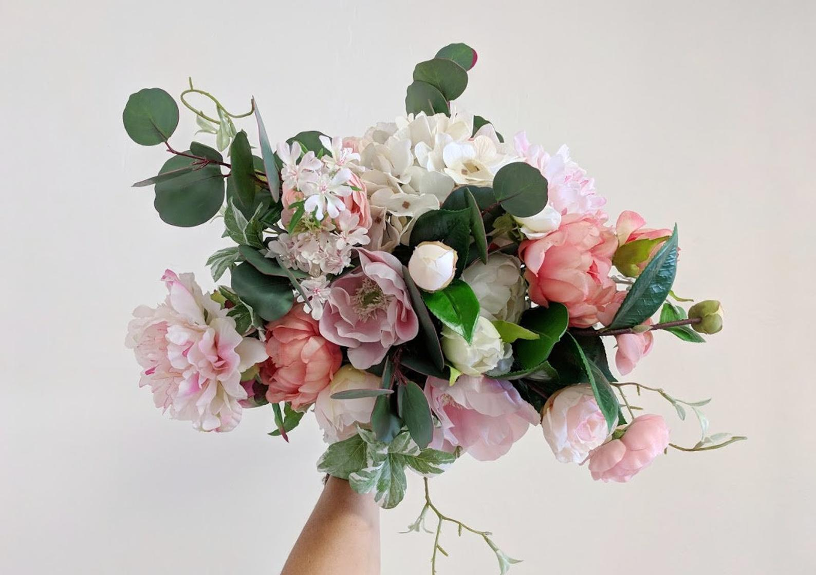 Silk Flower Wedding Bouquet By The Faux Bouquets