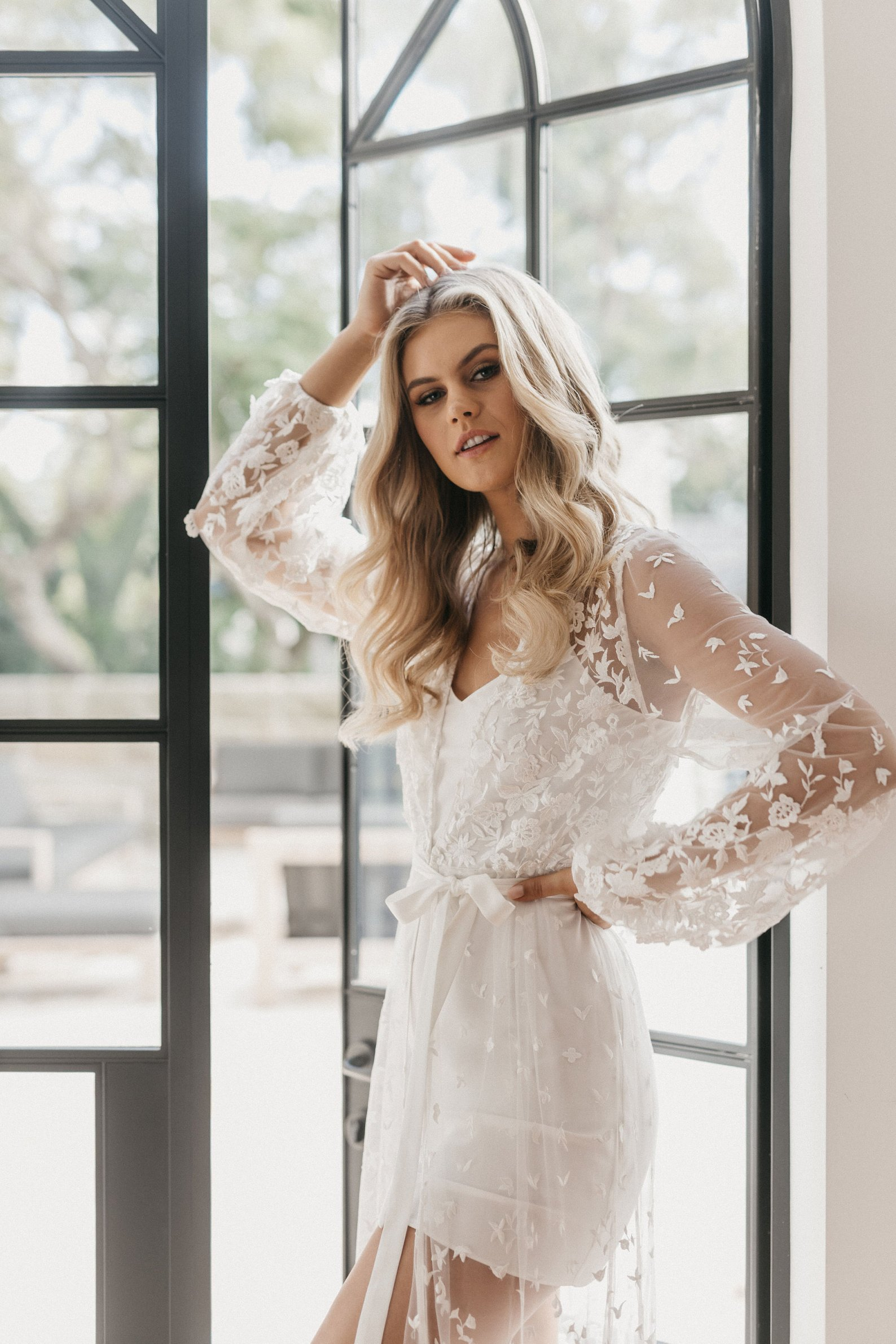 Lace Bridal Robe By Le Rose Gifts