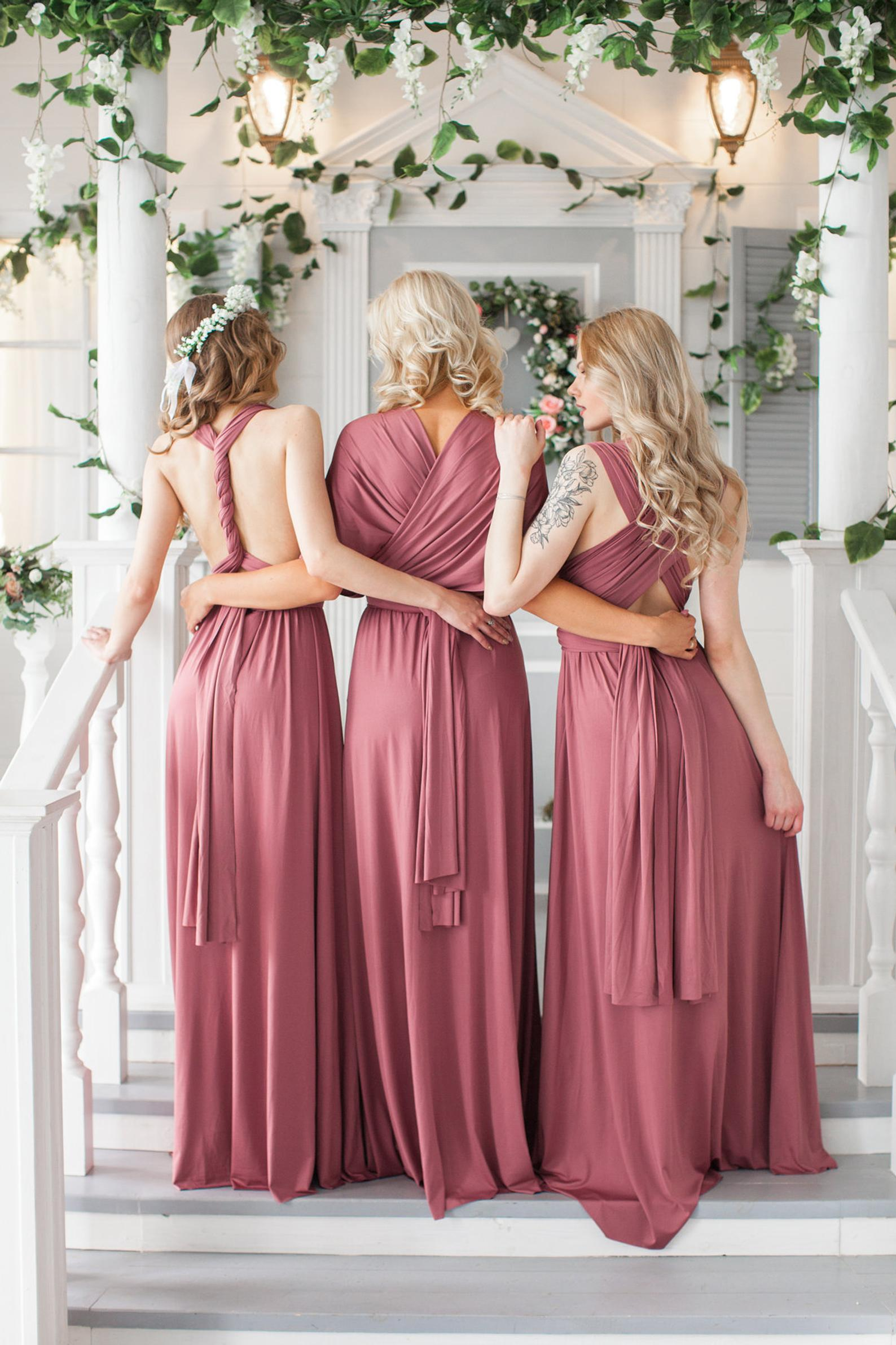 Bridesmaid Infinity Convertible Dress By I Do Crew Design