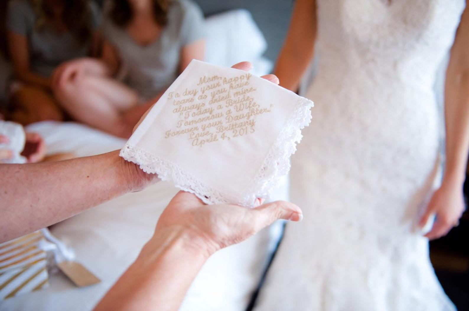 Personalized Lace Wedding Handkerchief By A Bit of Alexandria