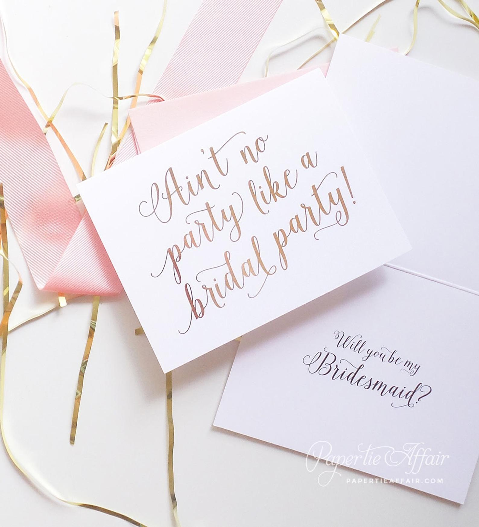 Cute Bridesmaid Proposal Box By Paper Tie Affair