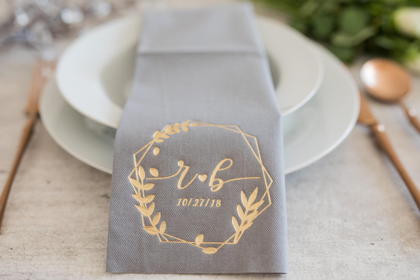 Personalized Wedding Napkins By Decor Press