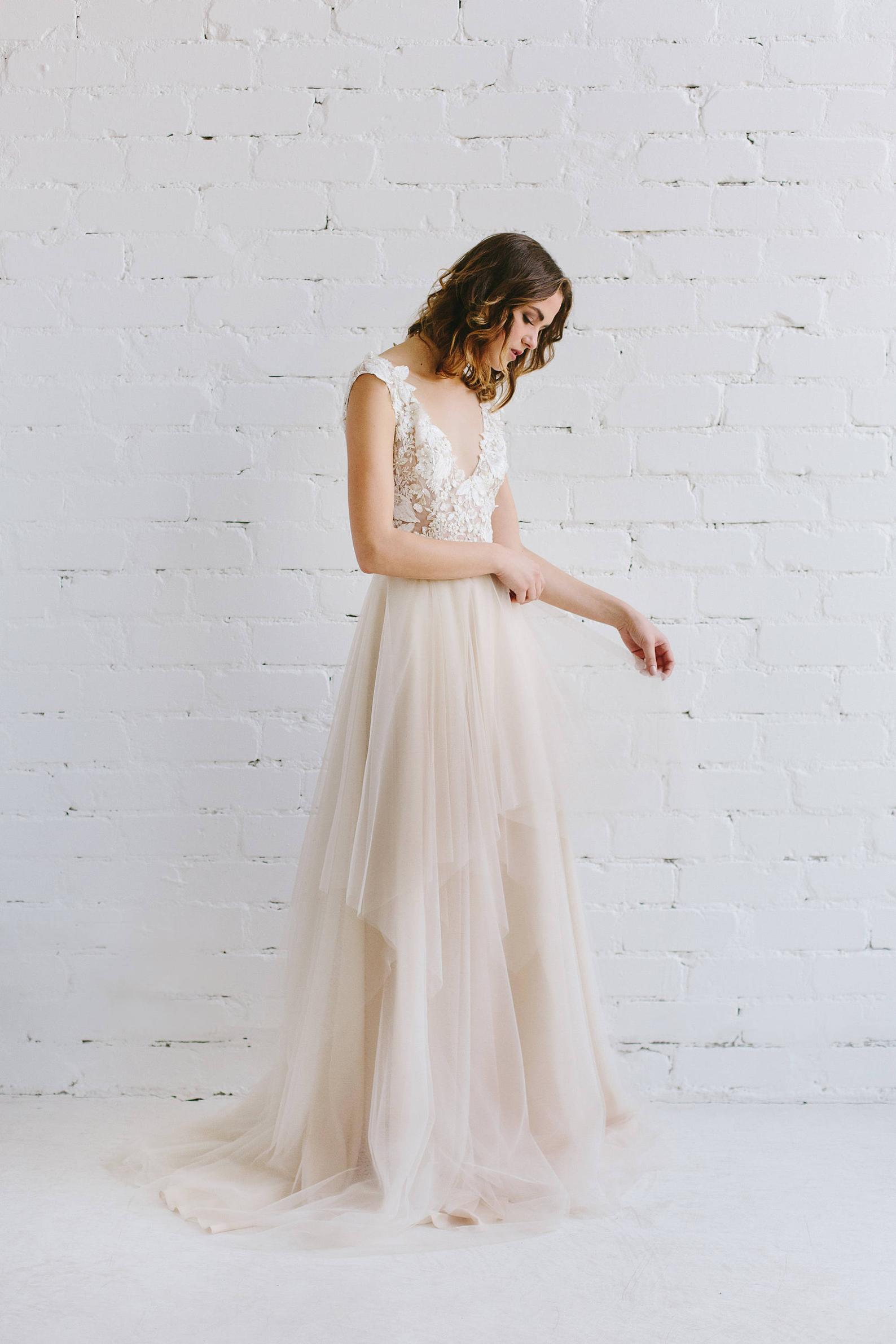 Nude Wedding Gown By Jurgita Bridal