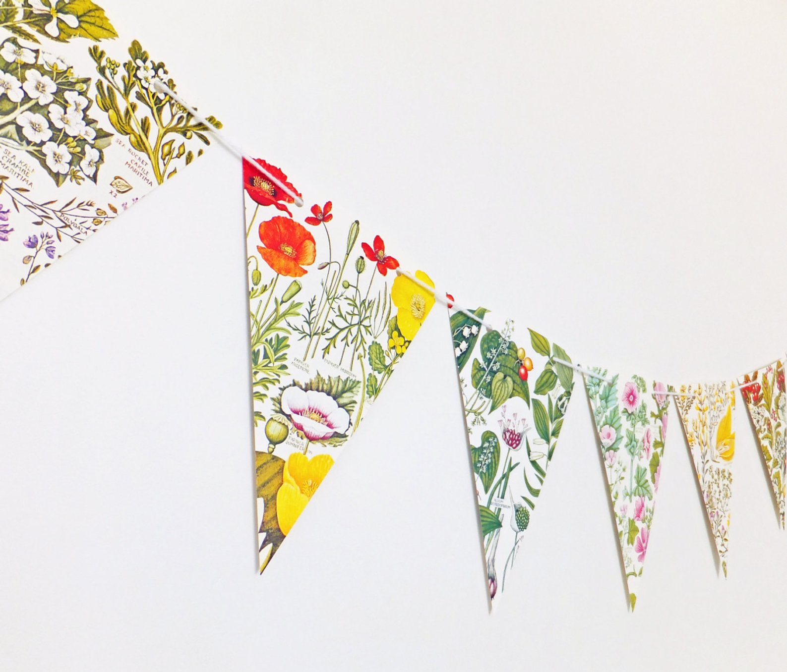 Botanical Bunting Floral Garland By Peony and Thistle