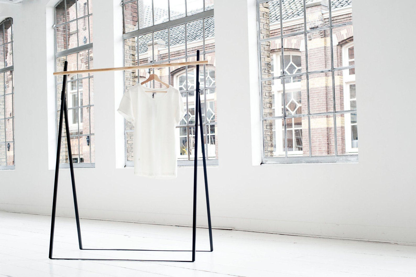 Simple and Chic Clothing Rack By Yaco Studio