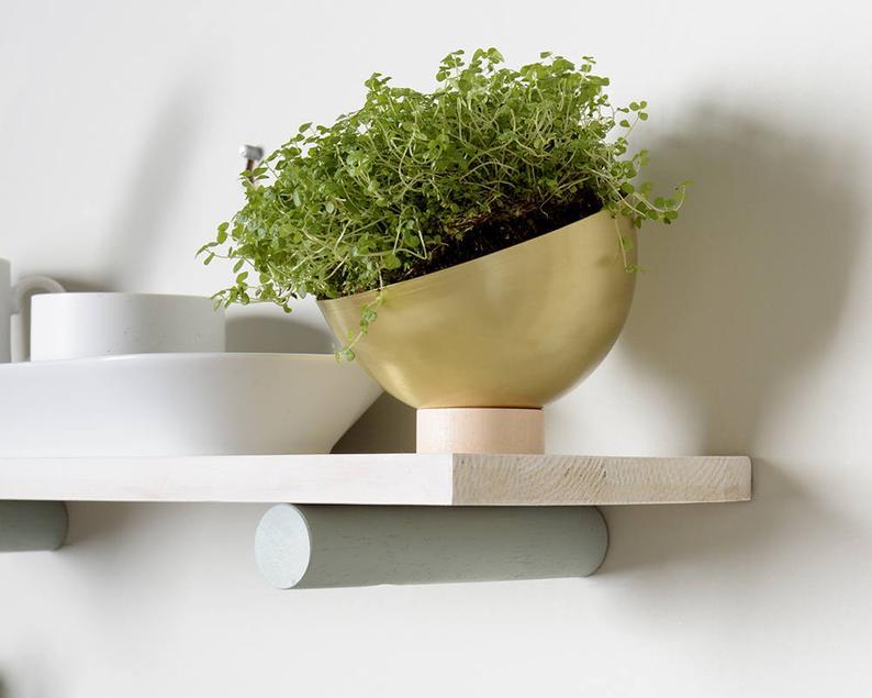 Modern Floating Shelves By Loop Design Studios