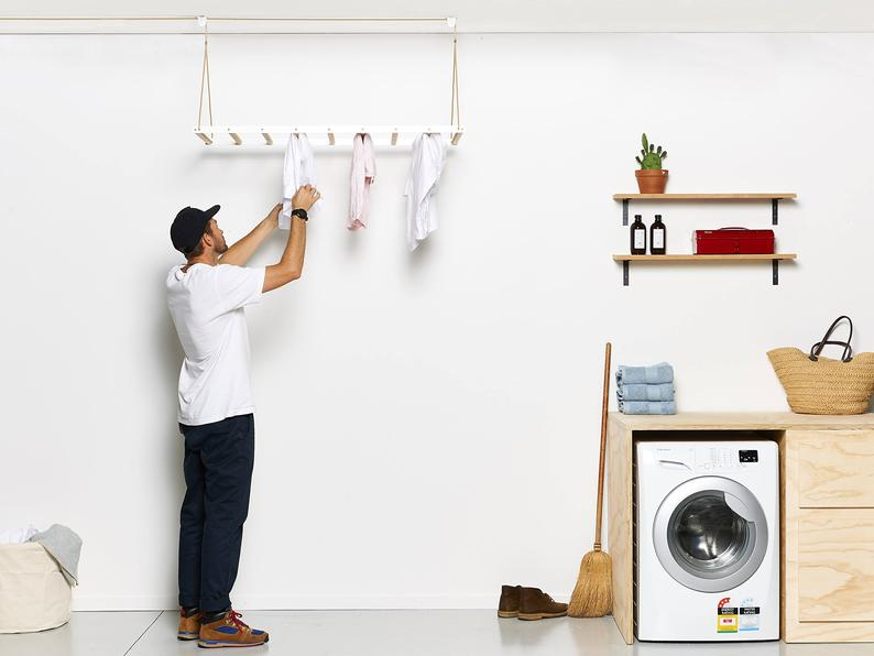 White Clothes Rack By George and Willy