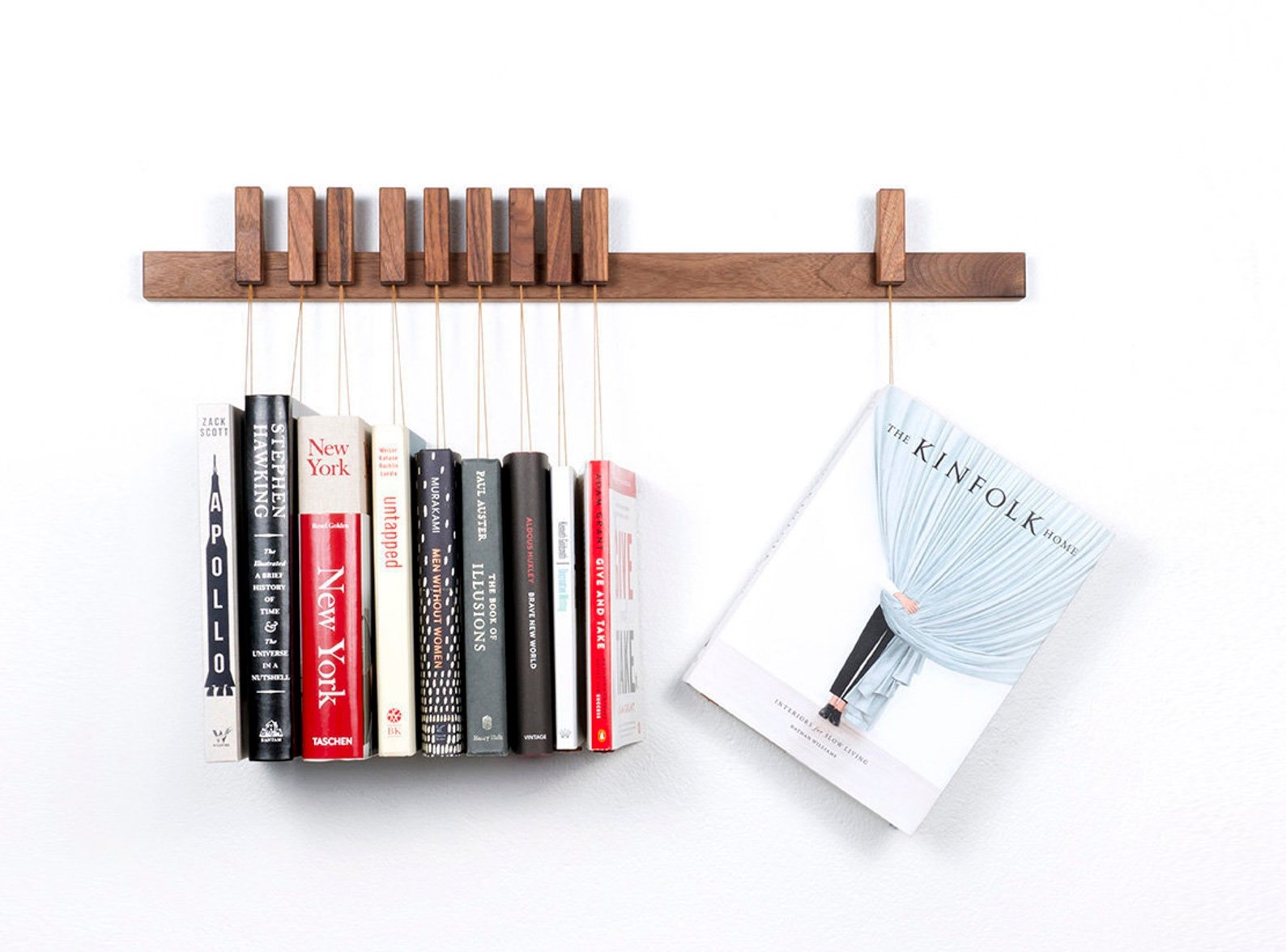 Custom Made Wooden Book Rack By Agustav Furniture