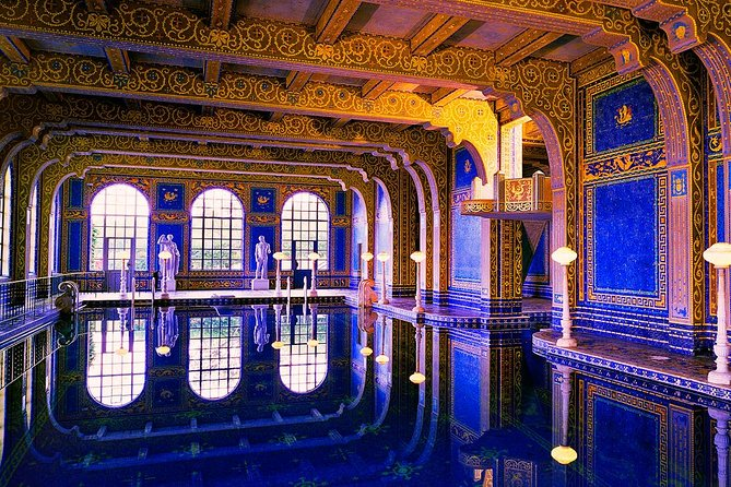 Hearst Castle & Paso Robles Wine Country Tour from San Luis Obispo - Make the most of your time on the Central Coast of California with a full-day wine tour from San Luis Obispo that includes a tour of Hearst Castle. Get an early start to beat the crowds at Hearst Castle, then stop at the charming waterside town of Cambria for shopping and lunch. Then stop into three boutique wineries in Paso Robles or Edna Valley to top off your day.