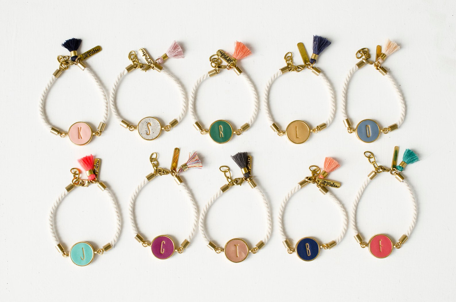 Personalized Initial Clay Bracelet By Jill Makes