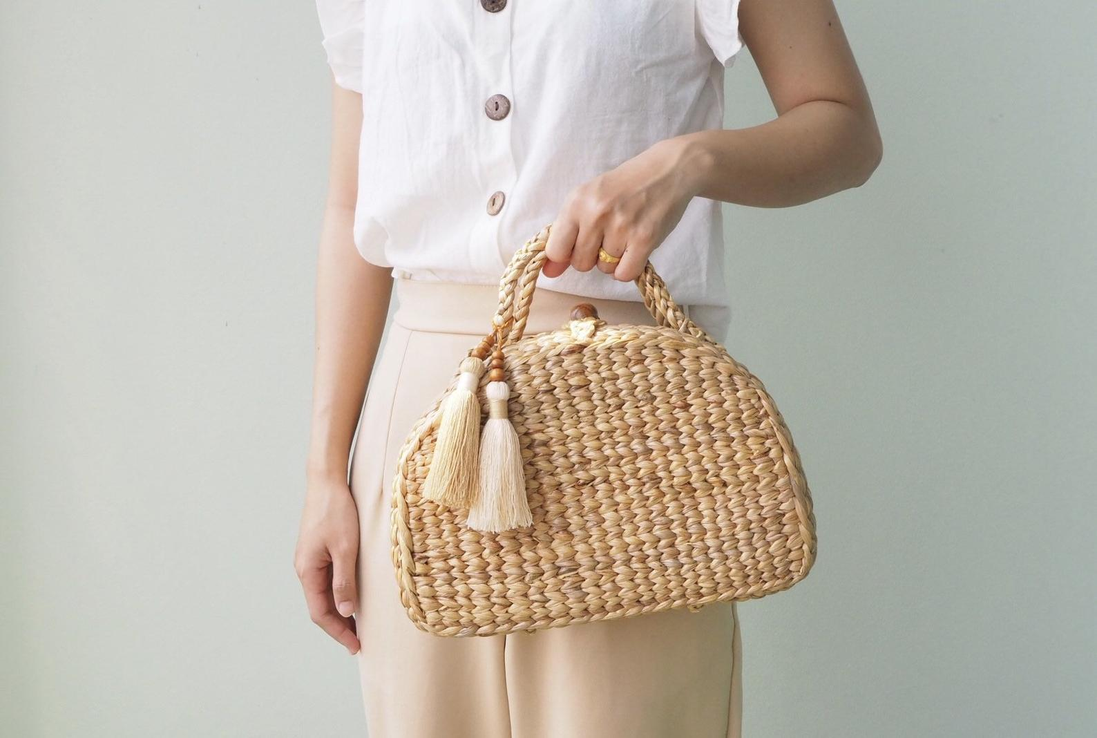 Straw Bag By Lake of Life