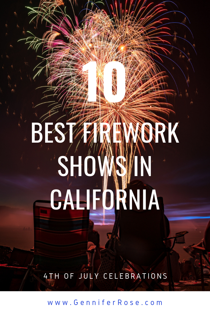 Top 10 California Vacation Spots to View 4th of July Fireworks Pin.png