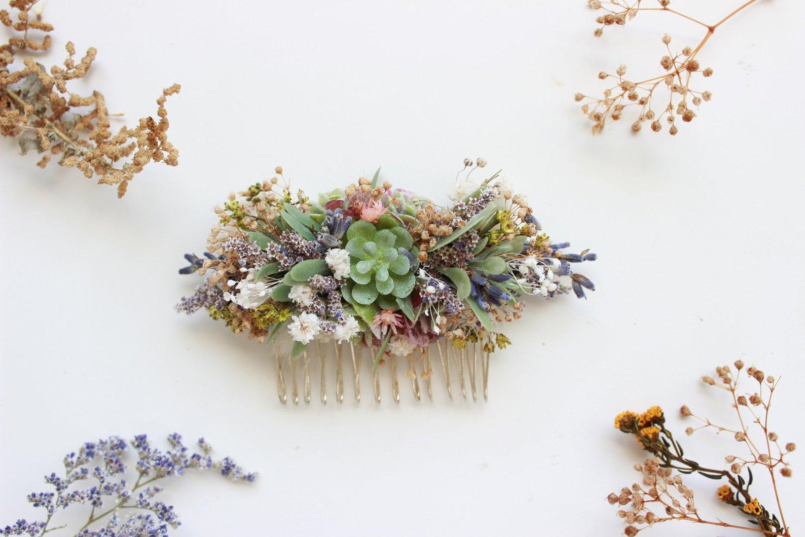 Succulent Comb By Bridal Wish Design