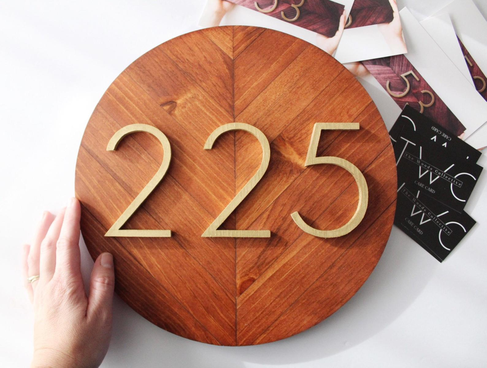 House Number Sign By The Woods Collective