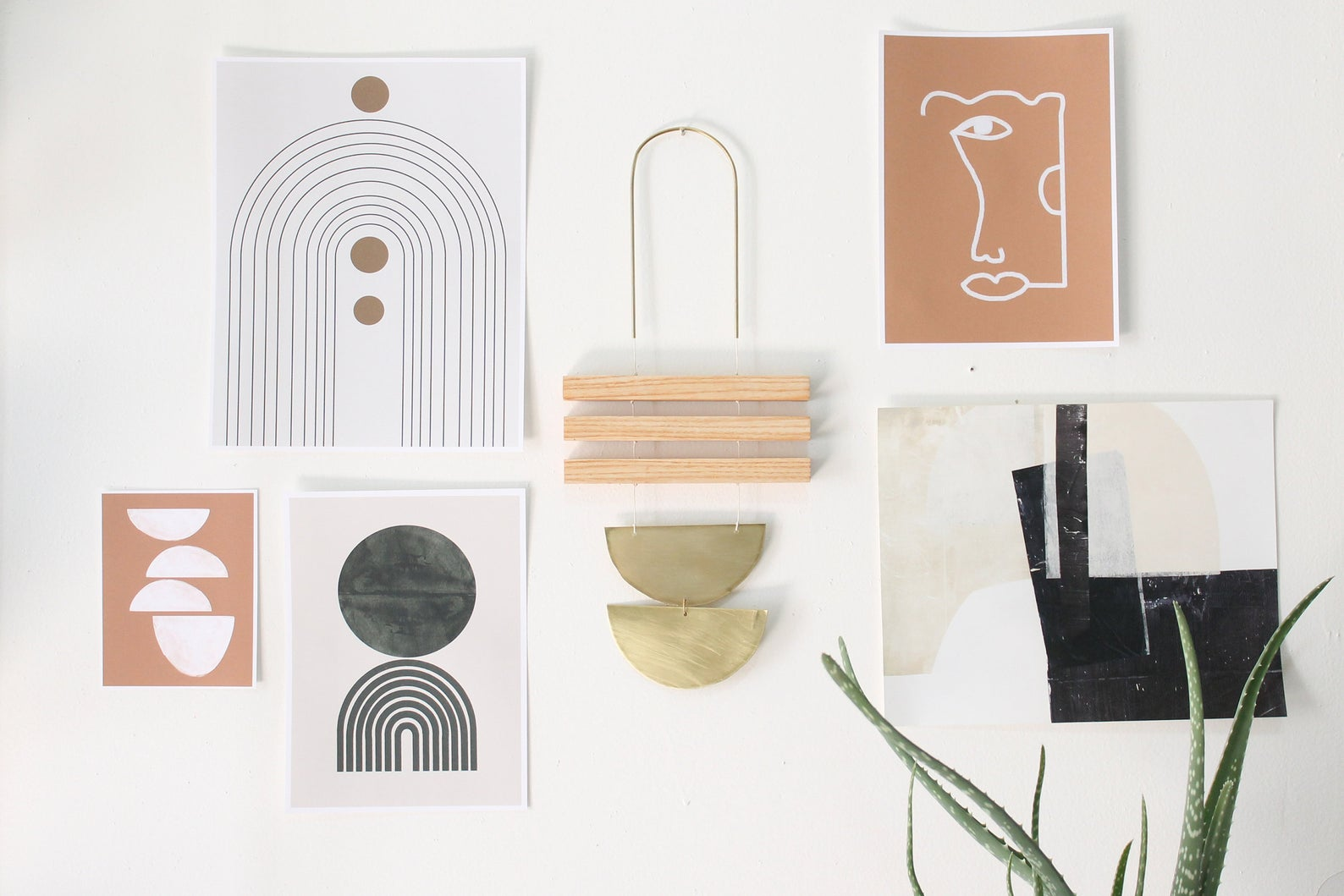 Ash + Brass Adora Wall Hanging By Mingled Goods Shop