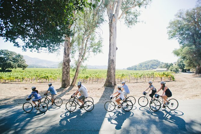 Napa Valley Bike + Wine Tour - Experience the beauty of Napa Valley on a guided bike tour that stops into local wineries for tastings. The roughly 4.5-hour bike tour visits two wineries and finishes in the early afternoon, leaving you free to explore Napa further on your own.