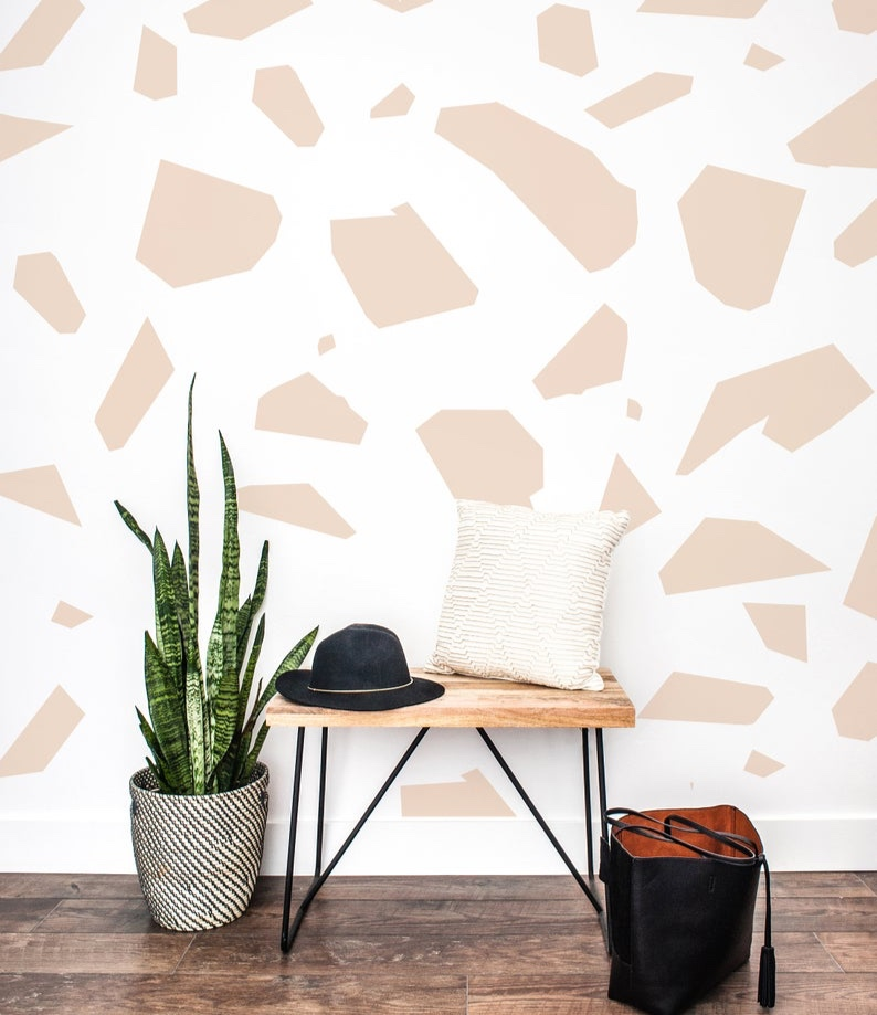Wall Decal in Large Terrazzo By The Lovely Wall