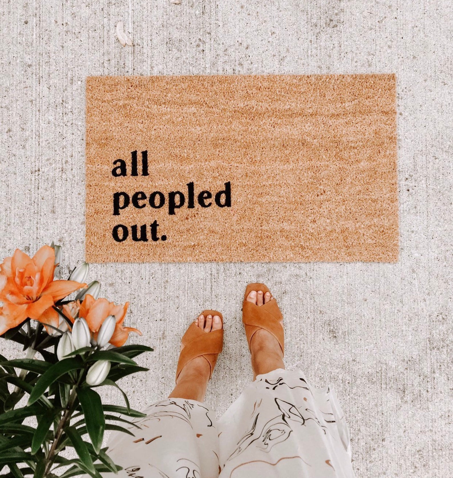 All Peopled Out Doormat By Olive Creative Company