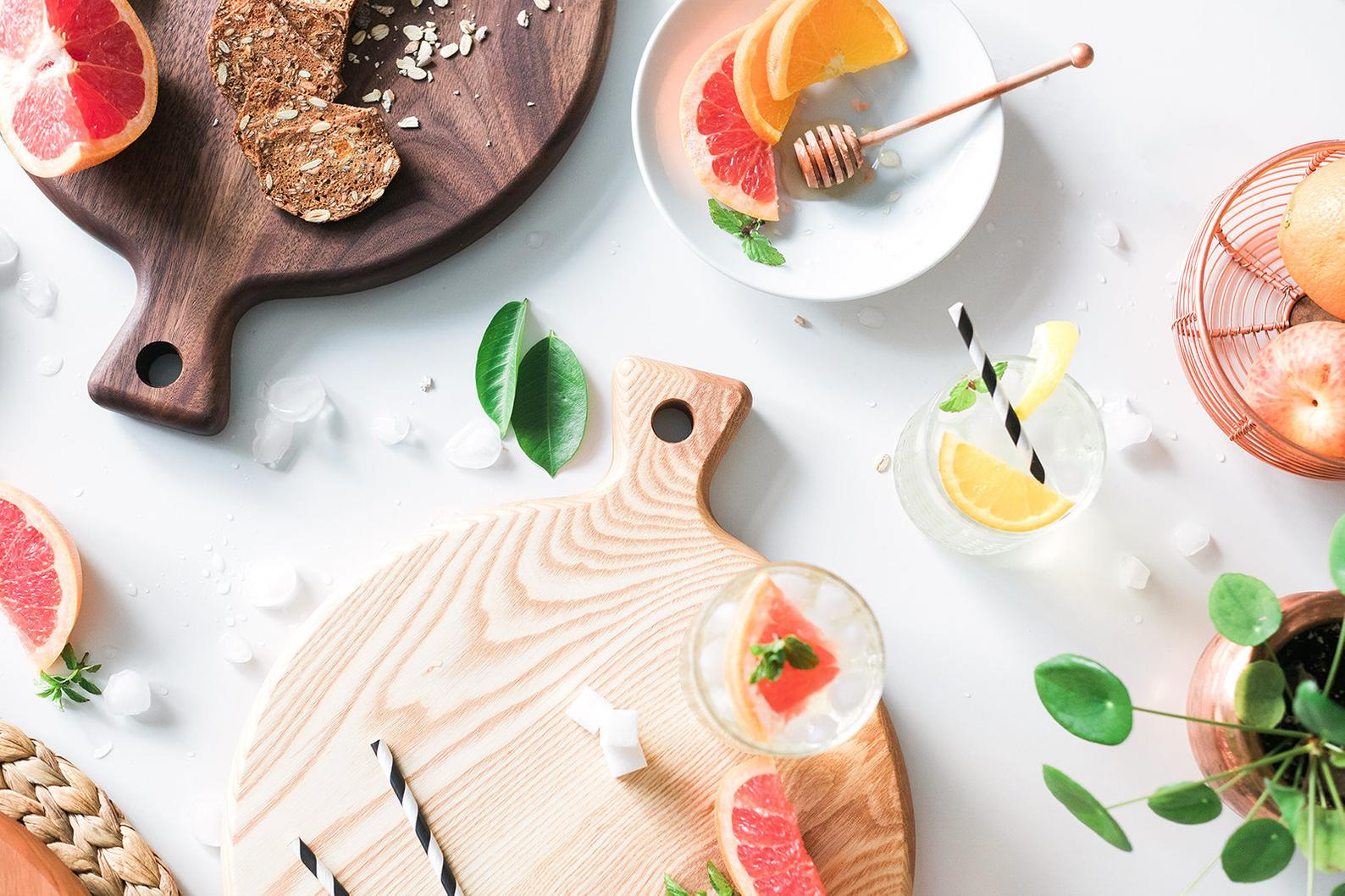 Classic Round Wood Cutting Board By Hook and Stem Co