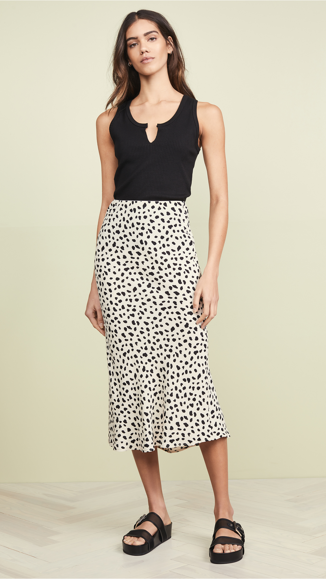 Leopard Print Skirt By Moon River