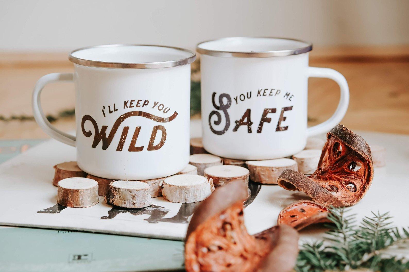 You Keep Me Safe I'll Keep You Wild Camp Mug Set By Brave Girl Club