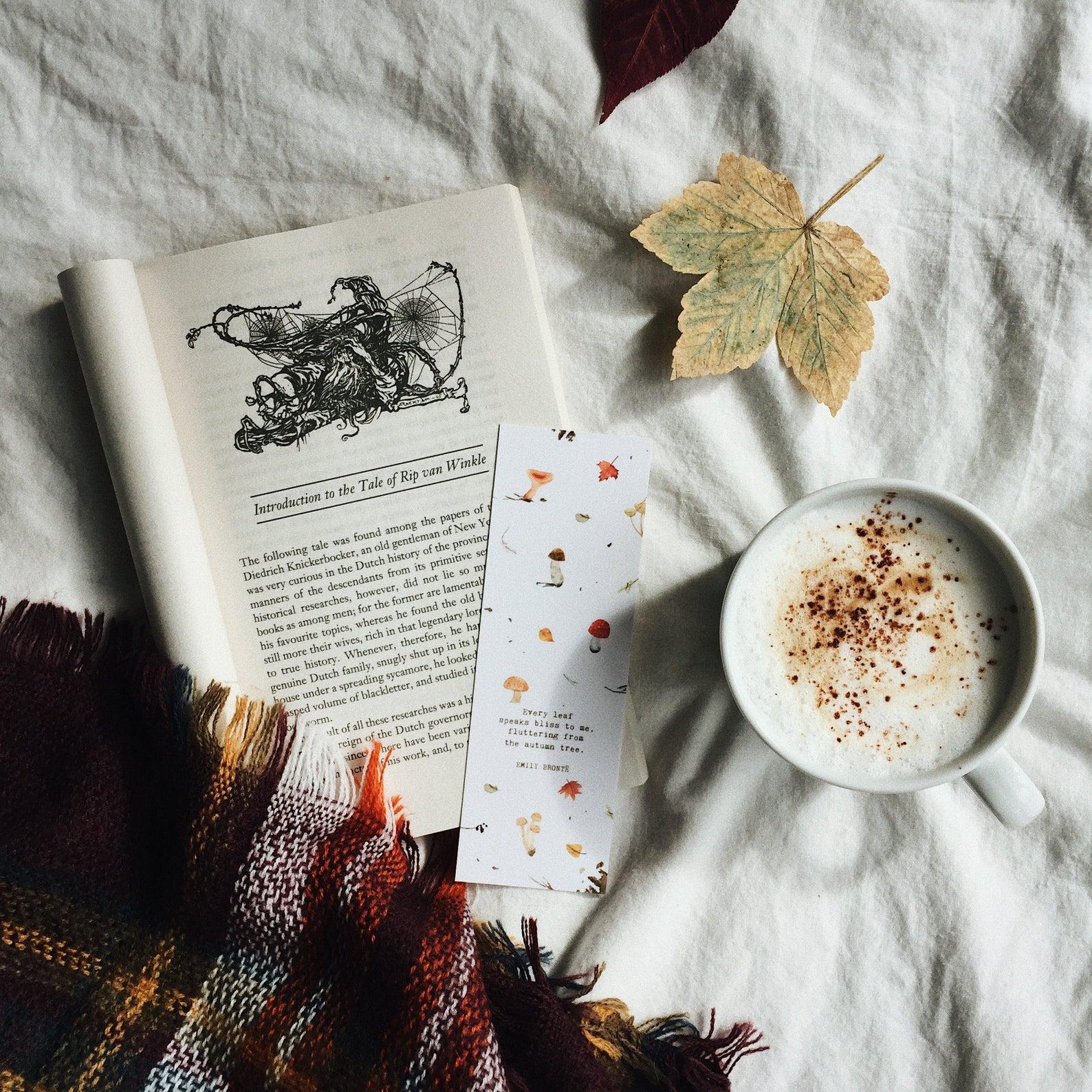 Emily Brontë Autumn Bookmark By White Saturday Co.