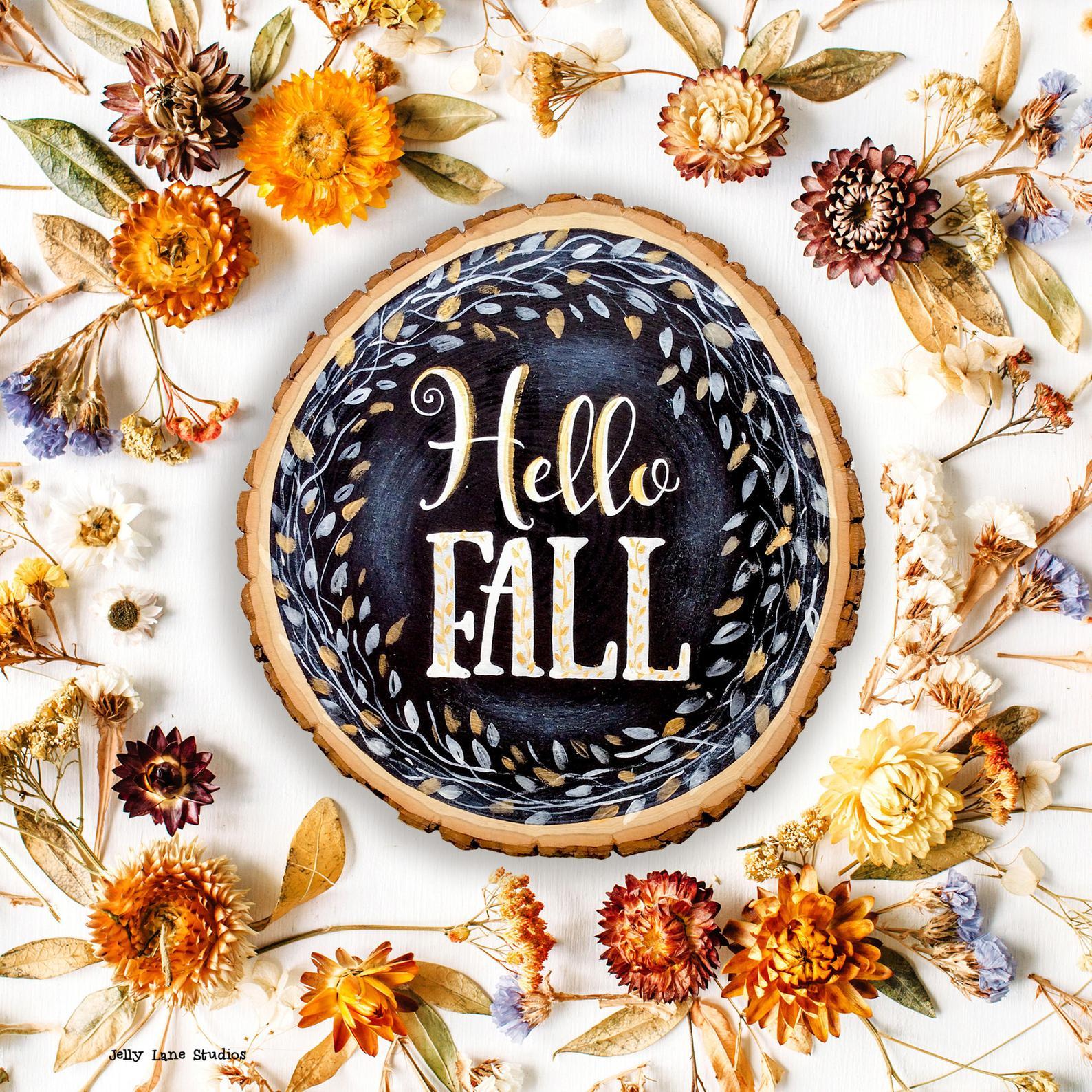 Fall Chalkboard Sign By Jelly Lane Studios